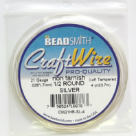 Silver Plated Copper Wire Half Round 21 gauge 4 Yard